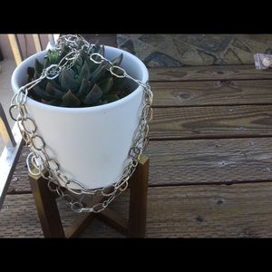 Silver Long Chain Necklace